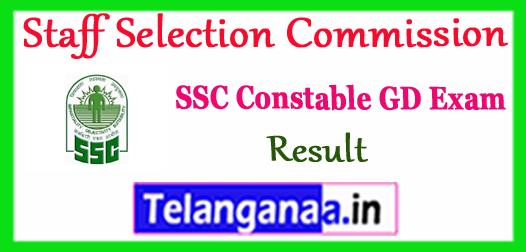 SSC Staff Selection Commission GD Constable Written Result 2017 Cut Off Marks