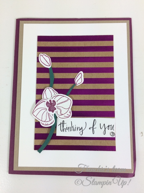Frenchie' Team, Climbing Orchid, Stampin'Up!, Foil Frenzy Designer paper,