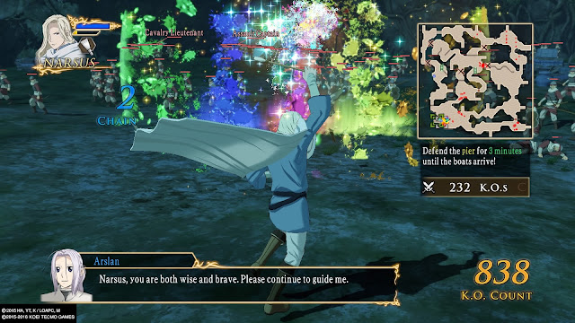 Review Arslan The Warriors of Legend narsus ps4