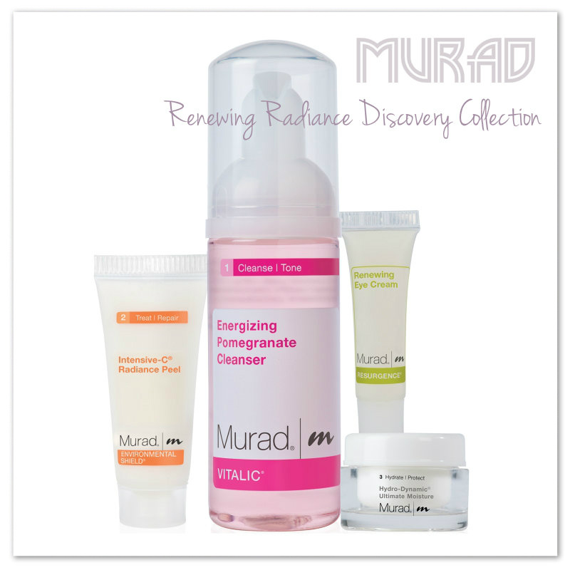 Review: Murad Renewing Radiance Discovery Collection. Vitalic Energizing Pomegranate Cleanser.