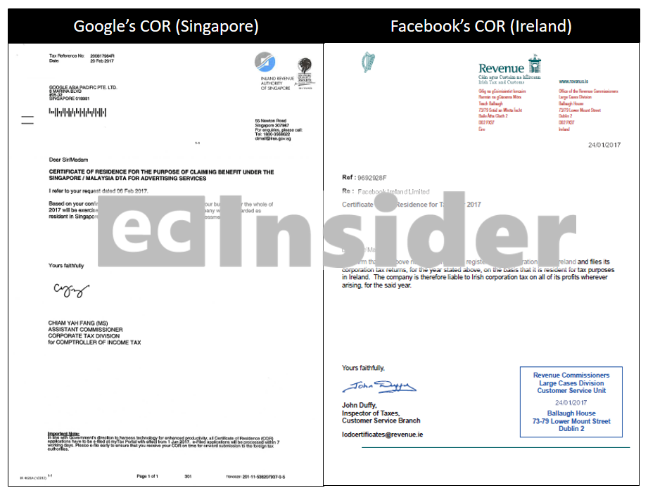 Lhdn classifies google facebook advertising as royalty 8 certificate of residence google facebook fandeluxe Choice Image