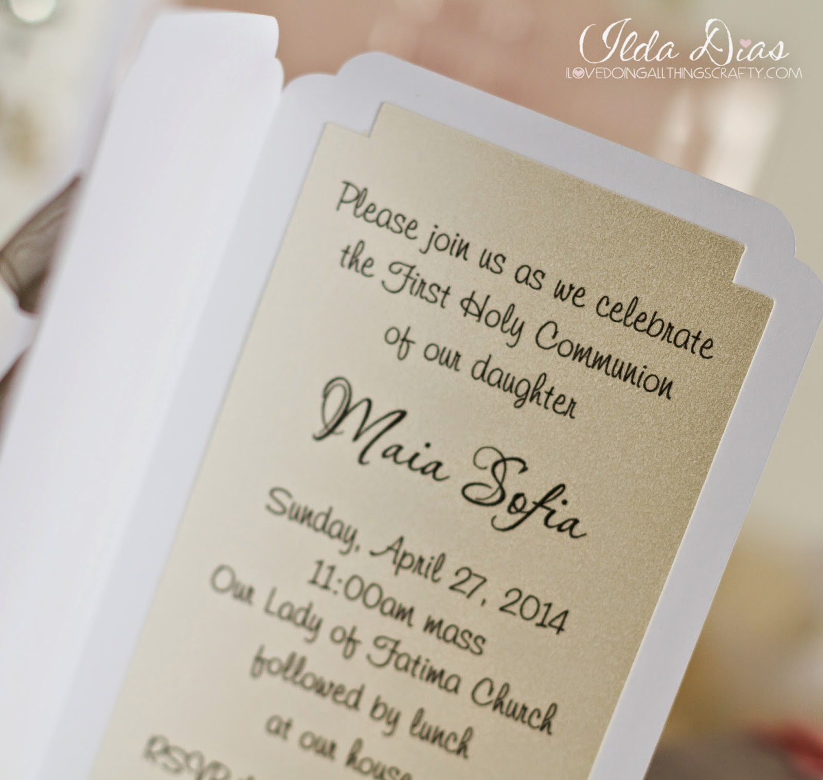 First Communion Day + DIY Decor, Invitations