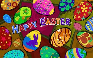 Happy Easter met paaseieren