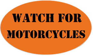 Watch Out For Motorcycles Sticker Kamos Sticker - Custom motorcycle bumper stickers awareness