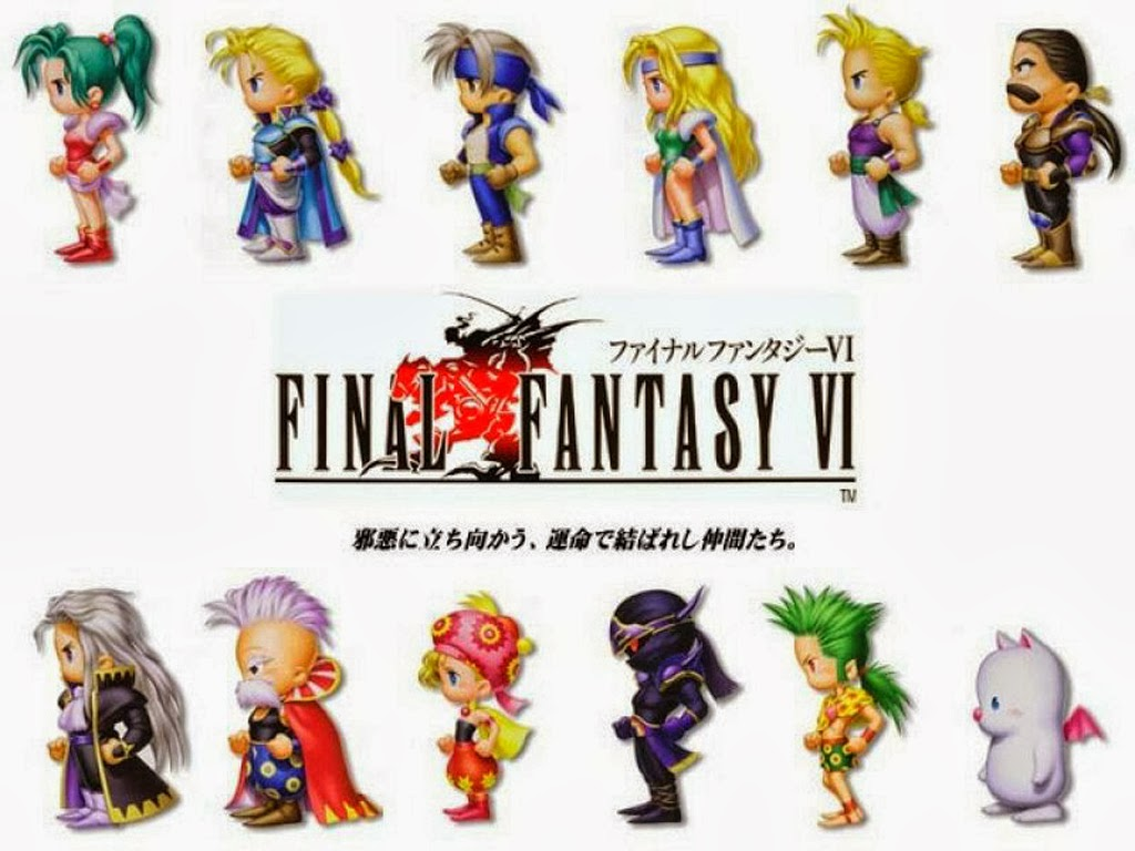 Cast of Final Fantasy VI Playable Characters for iOs and Android