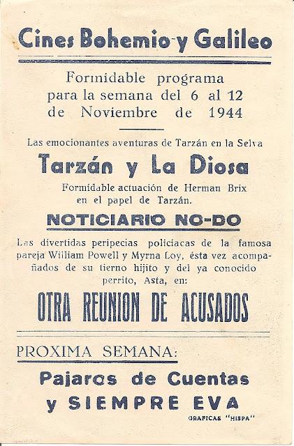 Programa de Cine - Tarzán y la Diosa - Herman Brix - Ula Holt