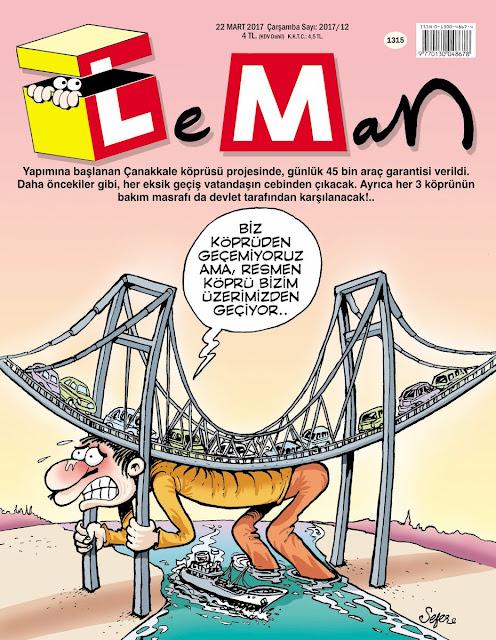 Leman Çanakkale Köprüsü Karikatürü