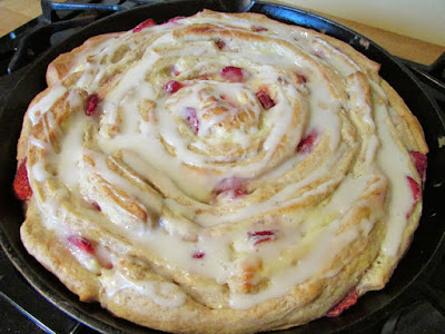 Mother's Day Brunch - Strawberries & Cream Skillet Roll