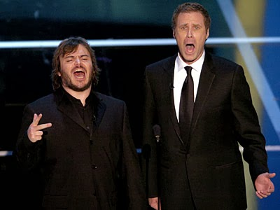 jack black will ferrell get of the stage