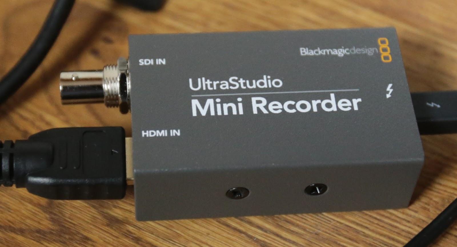 Blackmagic Ultrastudio Mini Recorder Software Mac Download