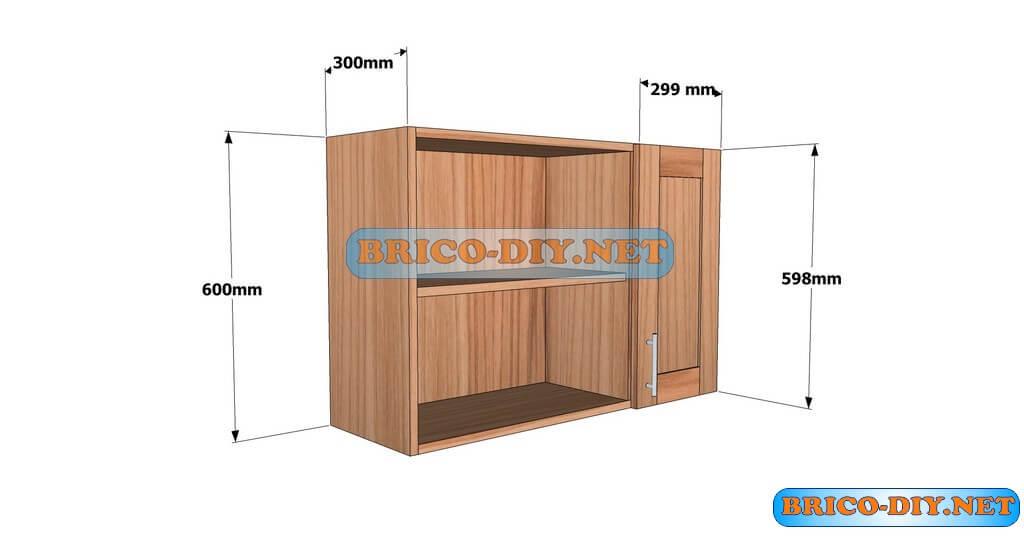 Planos detallados para hacer un mueble alto de cocina de for Manual para armar un mueble