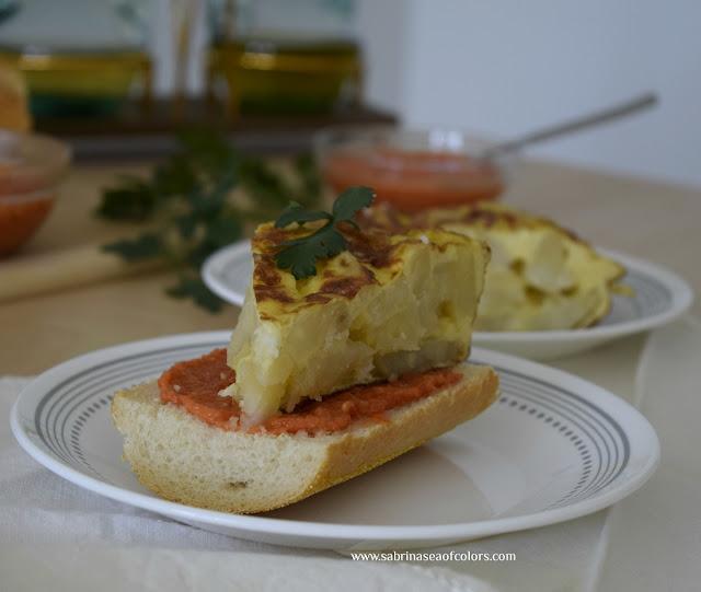 Tortilla de patatas tradicional española