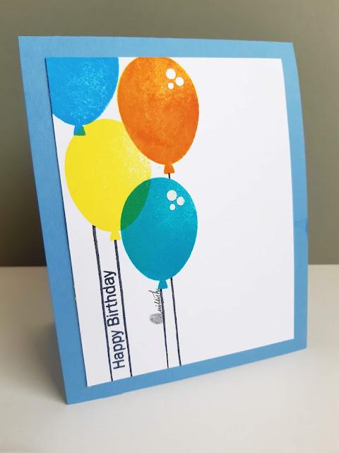 CAS card, Uniko Ltd, Birthday card, Quillish, Uniko stamp balloon bash, balloon card, stamping balloons, cards by ishani, card for boys, masculine card, card for little boys,