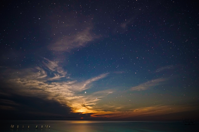sunset onuk island balabac philippines