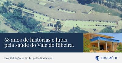 HRLB completa 68 anos e é importante referência em saúde do Vale do Ribeira
