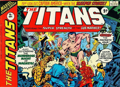 Marvel UK, The Titans #45, Fantastic Four vs Sub-Mariner