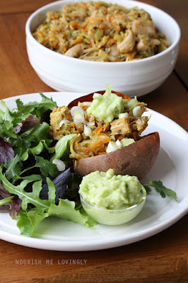 Loaded sweet potato - Jackfruit