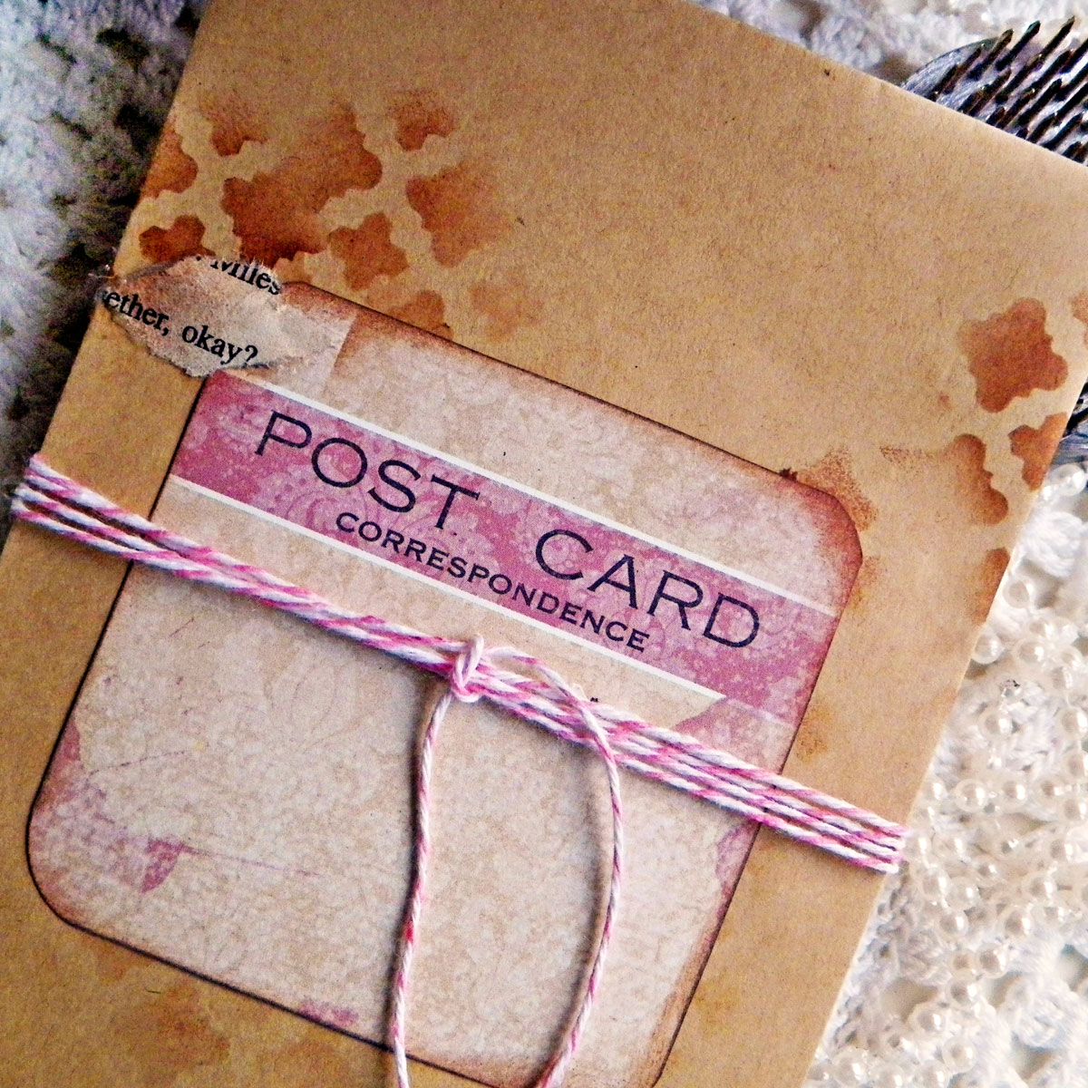 Pocket Tag Tutorial by Lisa Novogrodski for BoBunny using the Garden Journal Collection 03