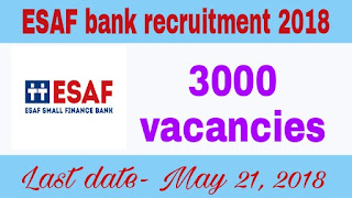 ESAF recruitment 2018 for 3000 posts