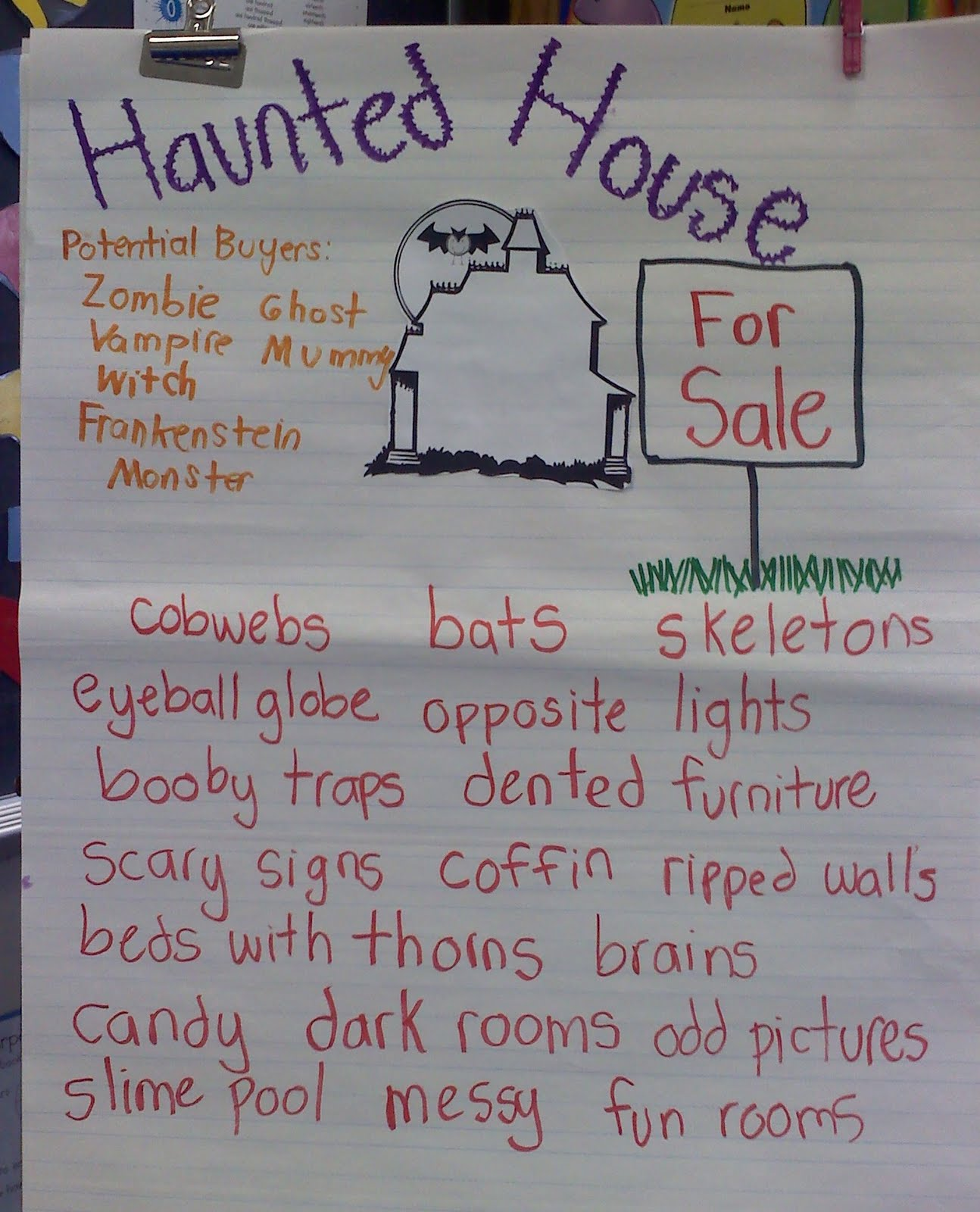 Haunted House Adjectives Gallery