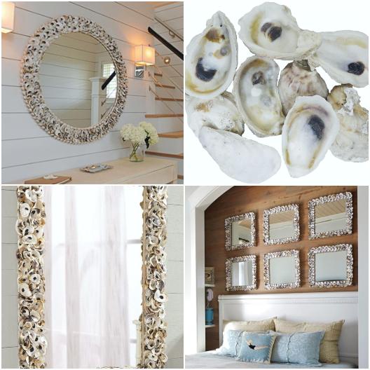 Oyster Mirror Decorating Ideas Shop the Look DIY Tutorials
