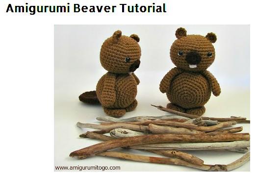 Tutorial Amigurumi Debutant : Evlynpartage: Amigurumi Beaver Tutorial By Amigurumi to go ...