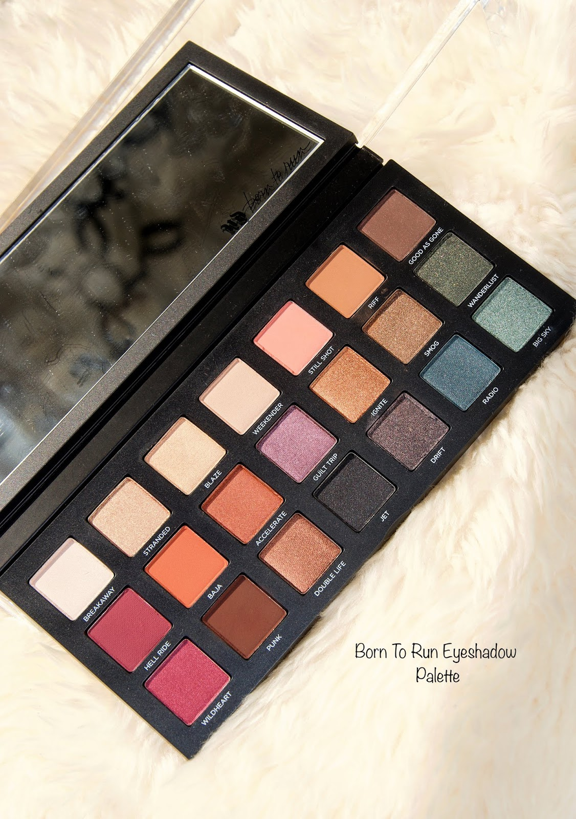 Urban Decay Born To Run Eyeshadow Palette Swatches