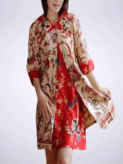 aneka baju batik wanita modern