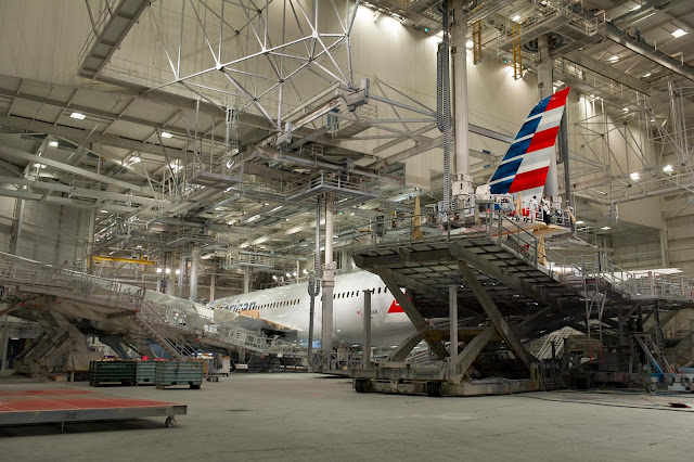 American Airlines Boeing 787-8 Dreamliner First Livery in Paint Shop