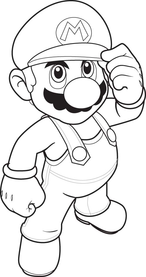 mario baseball coloring pages - photo#17