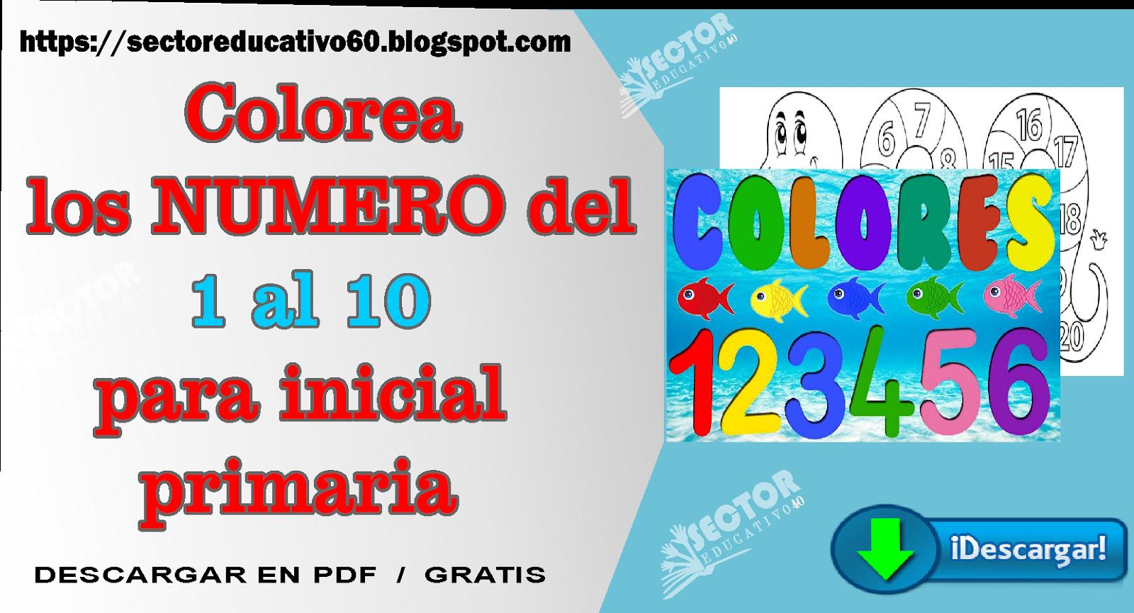 Los Números Del 1 Al 10 Para Colorear Sectoreducativo60