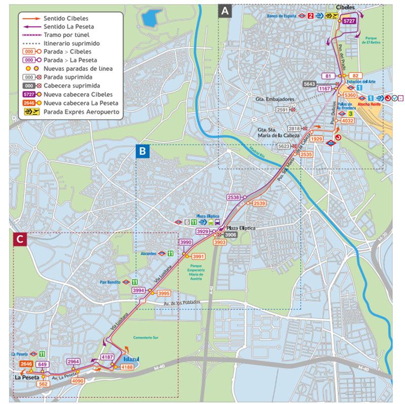 Mapa Lineas Emt Madrid.La Nueva Linea Expres E1 Permitira Ir De La Peseta A Cibeles En 40 Minutos En Autobus Es Por Madrid