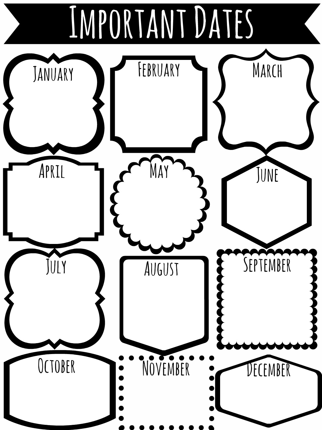 Autumn Birds Organization Printables For College Students