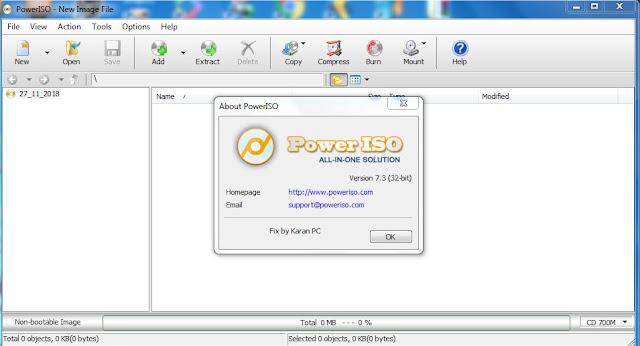تفعيل برنامج PowerISO 7.3