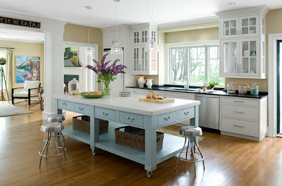kitchen island with wheels and seating