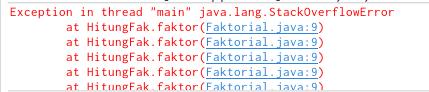 Stack overflow dalam rekursif