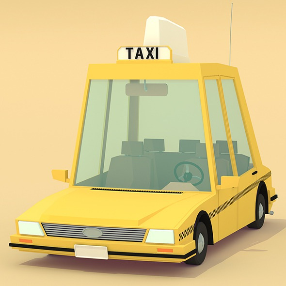 Free premium taxi 3D models download