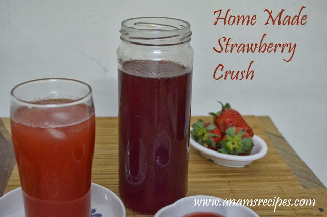 Home Made Strawberry Crush