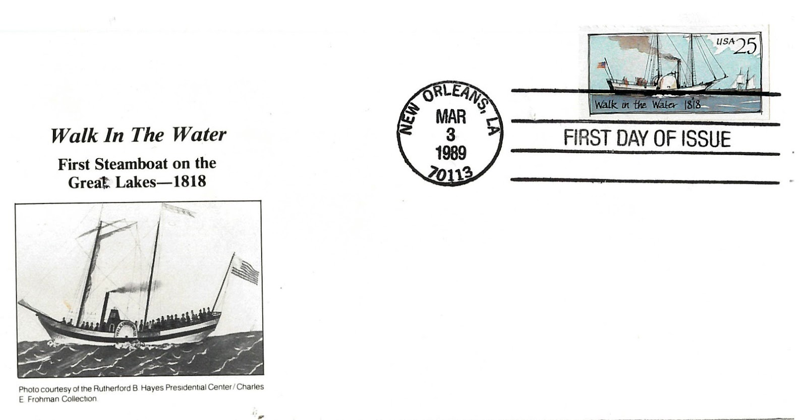 Sandusky History Walk In The Water Featured On U S Postage Stamp