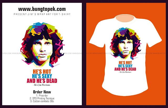 T-SHIRT WPAP Jim Morrison