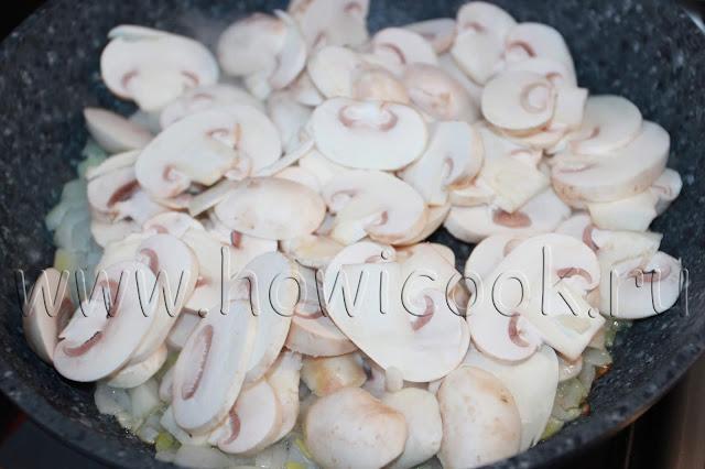 рецепт салата с кальмарами, грецкими орехами и шампиньонами с пошаговыми фото