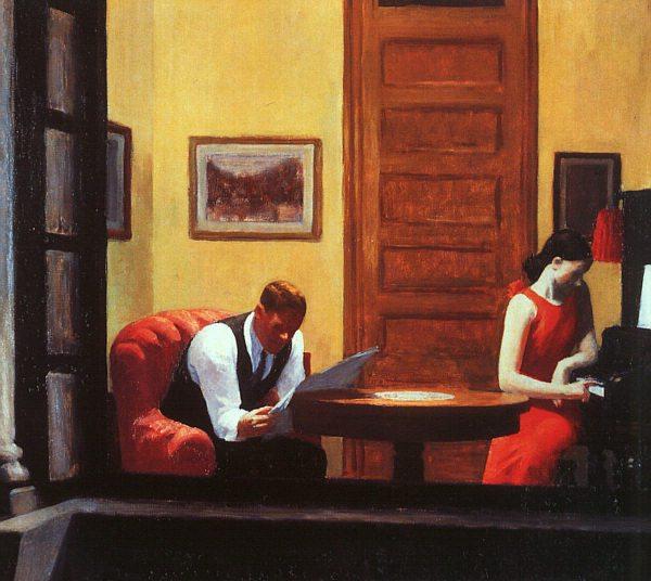 Edward Hopper Hotel Room Animated