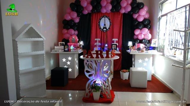 Decoração tema Paris para festa de aniversário - Barra-RJ