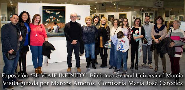 """Visita guiada a la exposición: """"El viaje infinito""""."""