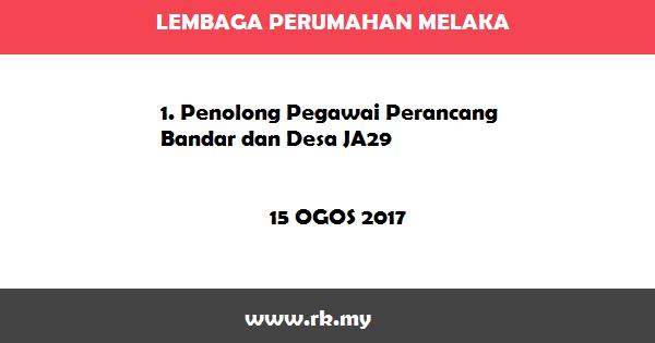 Jawatan Kosong di Lembaga Perumahan Melaka
