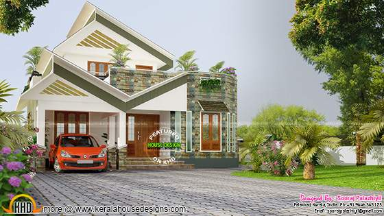 2400 sq-ft unique Kerala house design