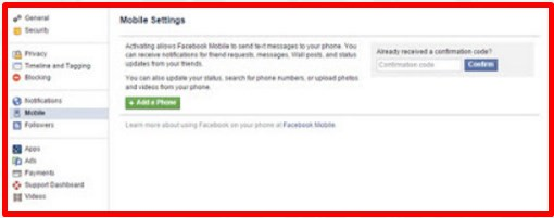 facebook login in mobile number