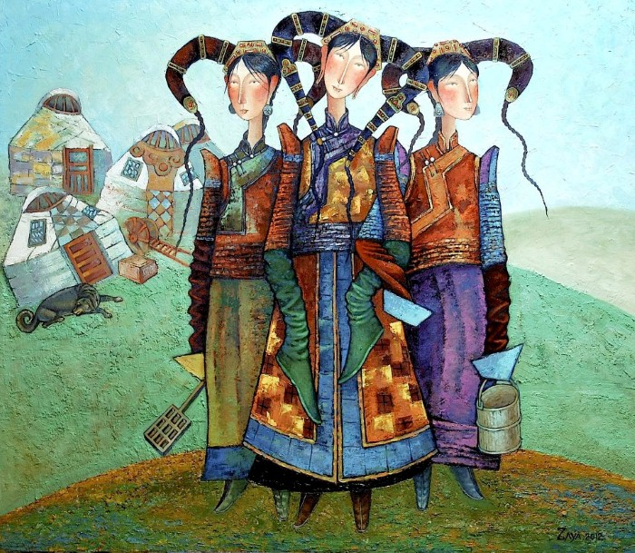 Монгольский художник. Заясайхан Самбуу 6
