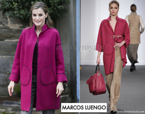 Queen Letizia wore Marcos Luengo Coat