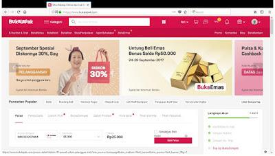 Ilustrasi diskon September Spesial di toko online Bukalapak.